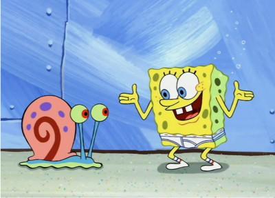 Gary and SpongeBob